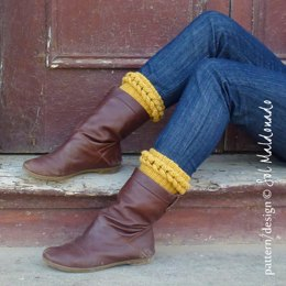 Boot Cuff Braided Cable crochet