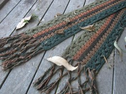 Windblown Leaves Scarf