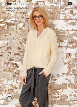 Sweater in Rico Fashion Fur and Essentials Alpaca Blend Chunky - 484 - Downloadable PDF