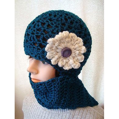 720 TEAL HAT OR WRAP AROUND TOQUE, Crochet Pattern, child and adult