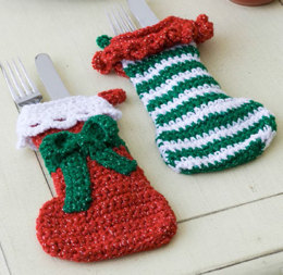 Elf Stockings in Red Heart Holiday - WR1885EN - Downloadable PDF