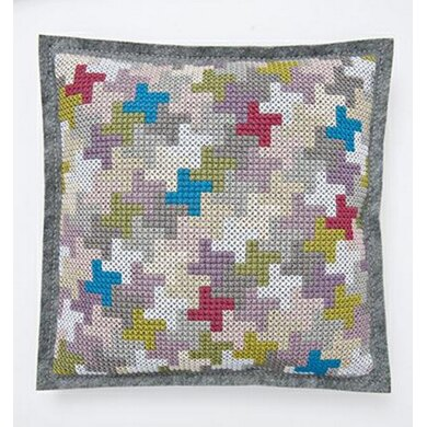 New Rico Houndstooth Cushion Embroidery Kit
