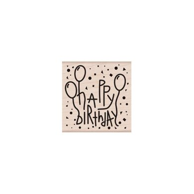 Hero Arts From The Vault Mounted Rubber Stamp - Happy Birthday