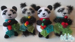 Holly Jolly Panda Hanging Ornament