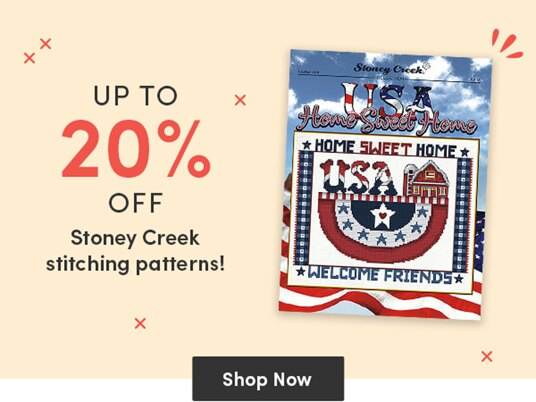Up to 20 percent off selected Stoney Creek stitching patterns!
