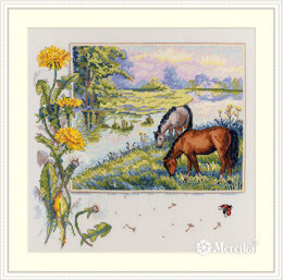 Merejka Horses Cross Stitch Kit - Multi