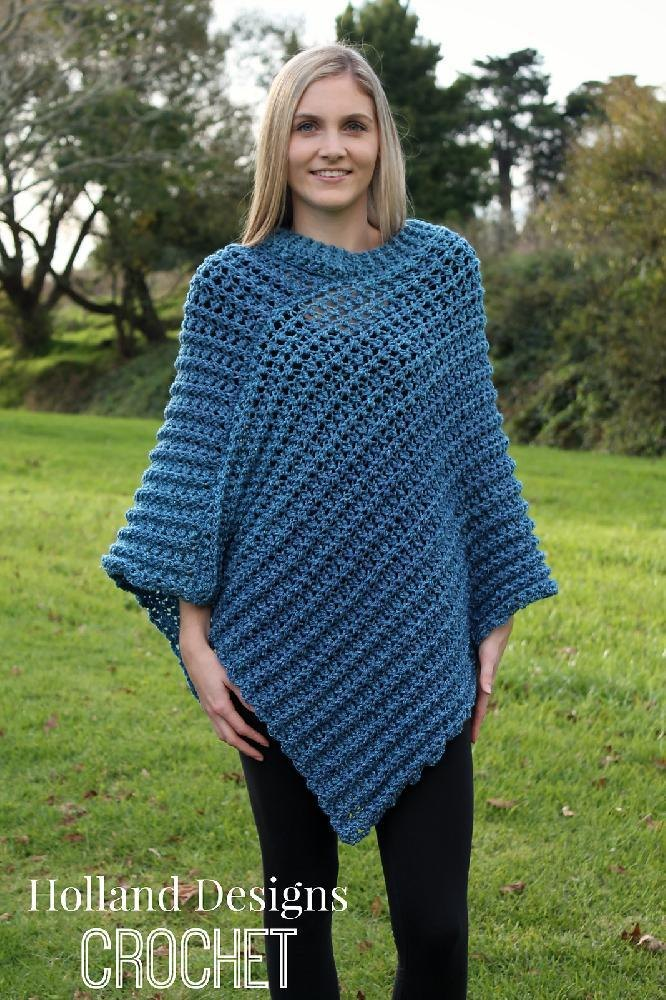 Tweed Poncho Crochet Pattern By Lisa Van Klaveren