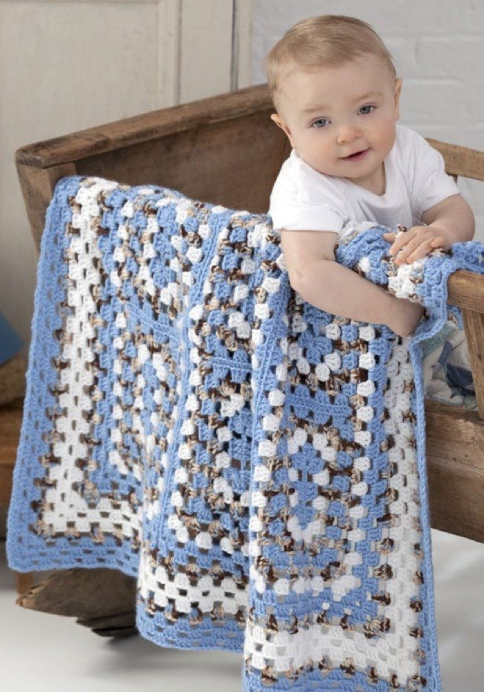 Around The Block Baby Blanket In Red Heart Soft Baby Steps