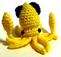 Mini Squid Amigurumi Plush Toy