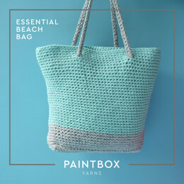 Essential Beach Bag - Free Crochet Pattern in Paintbox Yarns Recycled Ribbon and Recycled Metallic Ribbon - Downloadable PDF