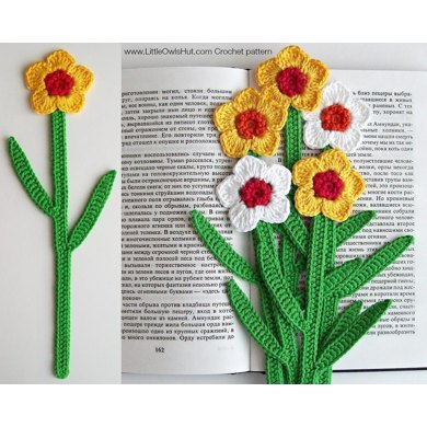 049 Daffodil Bookmark or decor Amigurumi Zabelina