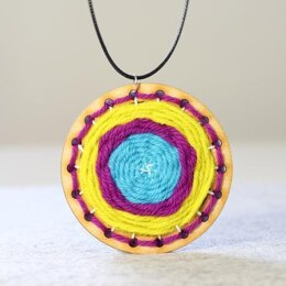 Hawthorn Handmade Go Weave Necklace Kit (Yellow, Blue & Pink)