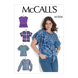 McCall's Misses' Tops M7808 - Sewing Pattern