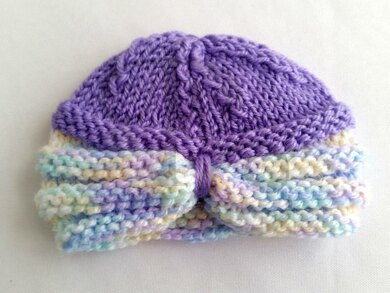 Knitted Baby Turban Knitting pattern by Peachtree Cottage ded252c25eb