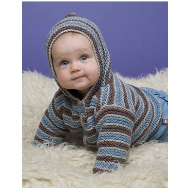 Hoodie in Lion Brand Cotton-Ease - 60554A