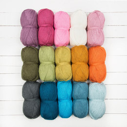 Stylecraft Special DK Jane Crowfoot CAL 15 Ball Color Pack - Sunshine & Showers
