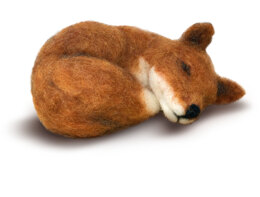 The Crafty Kit Company Sleepy Fox Needle Felting Kit - 190 x 290 x 94mm