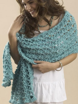 One Skein Summer Wrap in Caron One Pound - Downloadable PDF