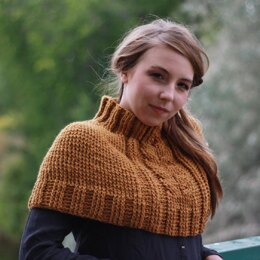 Cabled Crochet Poncho