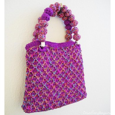 Stylish small colorful textured bag