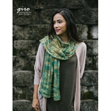 Giro Scarf in Malabrigo Sock - Downloadable PDF