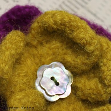 Felted Flower Corsage