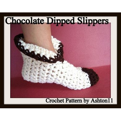Chocolate Dipped Slippers - Unisex  | Crochet Pattern by Ashton11