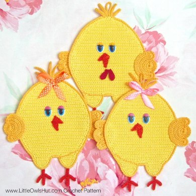 051 Chickens decor, potholder, pillow Amigurumi Zabelina Ravelry
