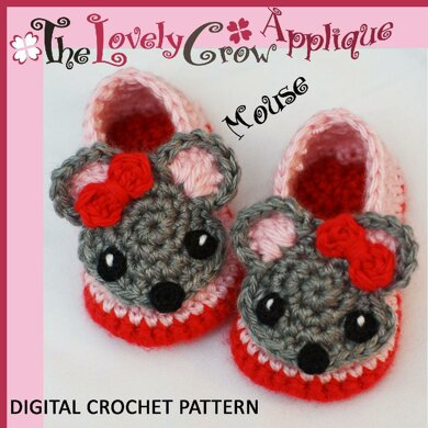 Applique Mouse Booties