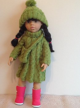 "Cable dress for 18"" doll"