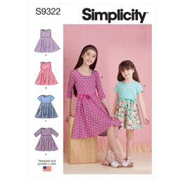 Simplicity Children's and Girls' Pullover Dresses S9322 - Sewing Pattern