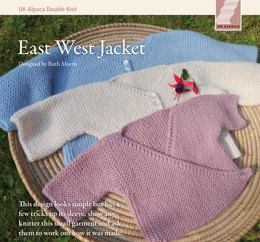 East West Jacket in UK Alpaca Baby Alpaca Silk DK