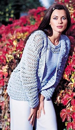 Twin Set Cloud Cardigan in Adriafil Navy