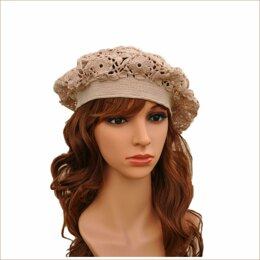Irish lace beret