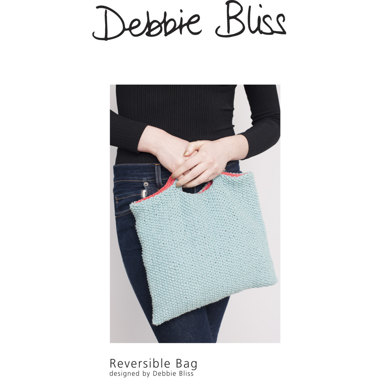 """Reversible Bag"" : Bag Knitting Pattern for Home in Debbie Bliss DK 