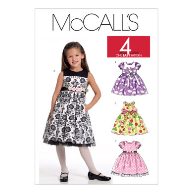 McCall's Children's/Girls' Lined Dresses M5793 - Sewing Pattern