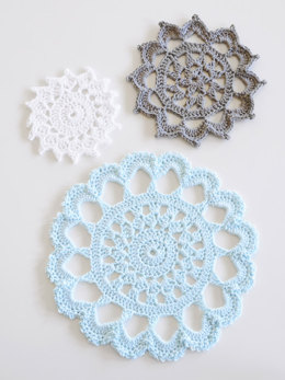 Aunt Aggie's Trivets in Blue Sky Fibers Skinny Cotton