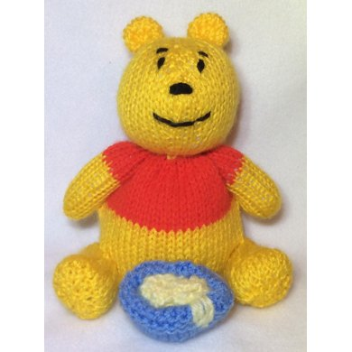 Winnie The Pooh Choc Orange Cover Toy Knitting Pattern By Andrew Lucas
