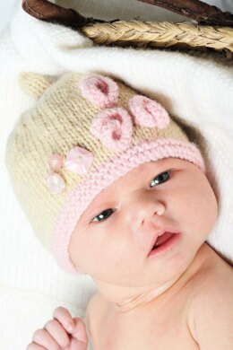 Isabelle Hat and Flower Shoes - Little Cupcakes - Bc09