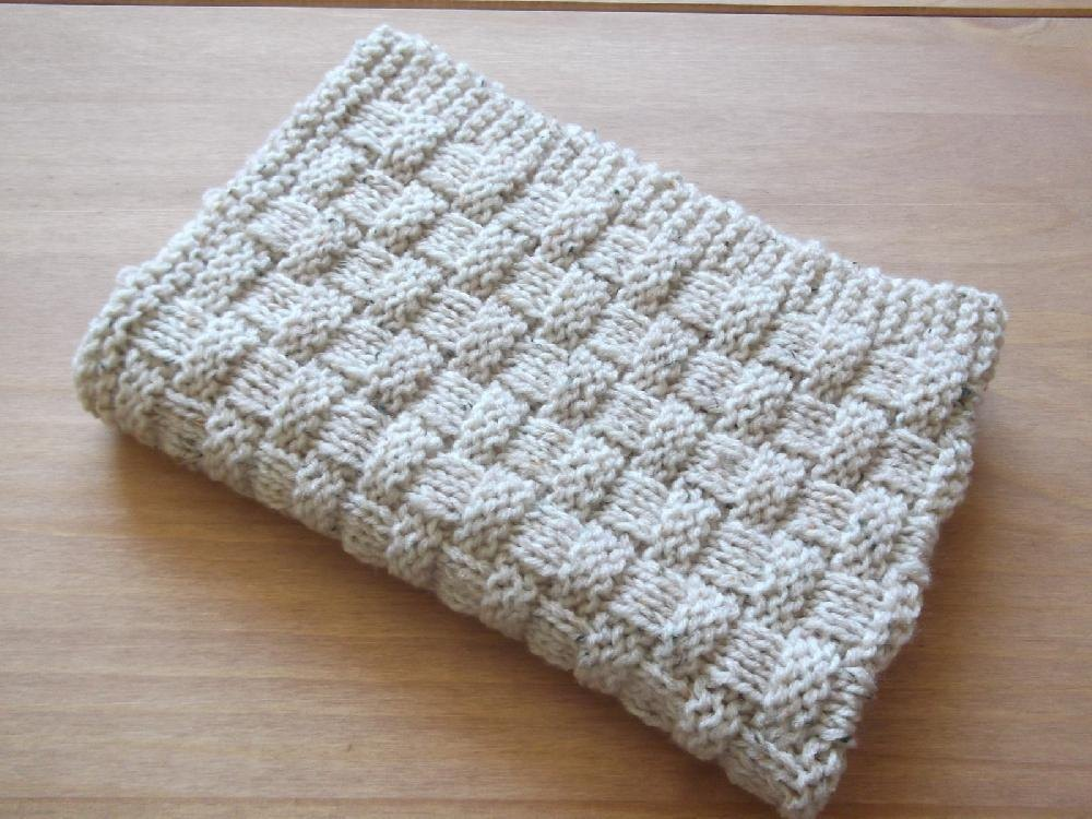 Quick and Easy Basket Weave Baby Blanket Knitting pattern by Daisy ...
