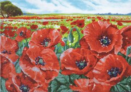 Diamond Dotz Red Poppy Field Diamond Painting Kit