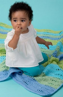 Cool Breeze Baby Ripple in Red Heart Soft Baby Steps Solids - LW3337