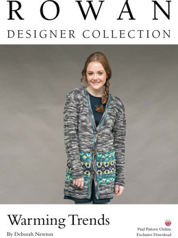 Warming Trend Cardigan in Rowan Pure Wool Superwash Worsted - D175
