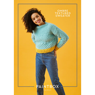 Ombre Textured Jumper : Jumper Knitting Pattern for Women in Paintbox Yarns Super Bulky | Super Chunky Yarn