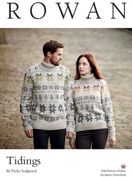 Tidings Sweaters in Rowan Felted Tweed DK - D154 - Downloadable PDF