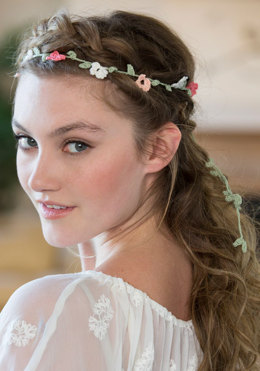 Elegant Floral Headband in Aunt Lydia's - LC4280 - Downloadable PDF