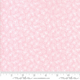 Moda Fabrics First Romance Pale Sweet Pea Floral Cut to Length - Single Stem Pink