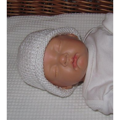 Preemie and Tiny Baby Roll Brim Beanie Hat