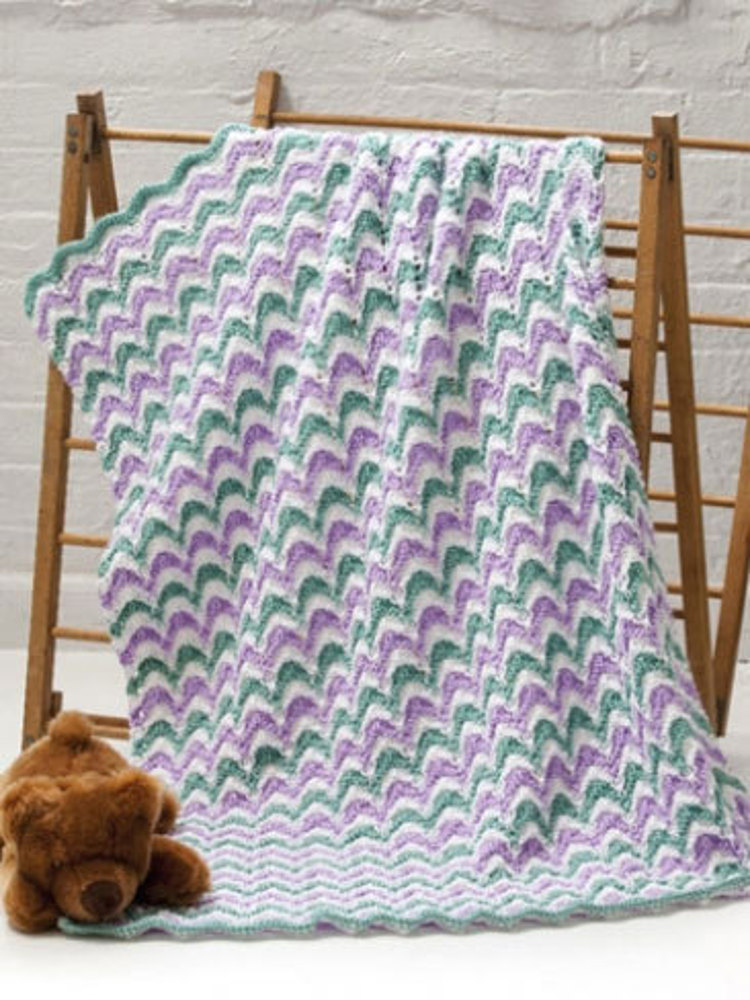 Lace Waves Baby Blanket In Caron Simply Soft Downloadable Pdf
