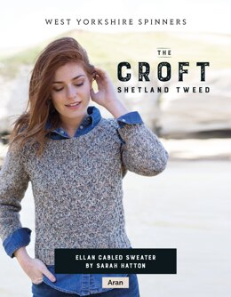 Ellan Cabled Sweater in West Yorkshire Spinners The Croft Shetland Tweed - DBP0054 - Downloadable PDF